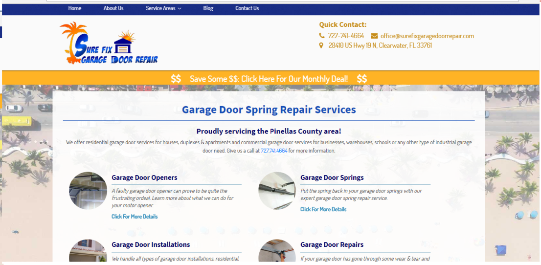 sure fix garage door repair