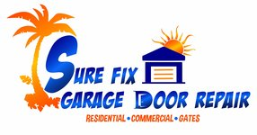 sure fix garage door repair logo