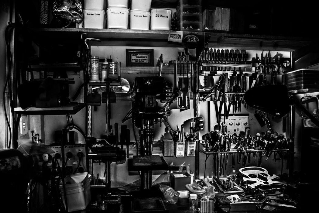 how to turn your garage into a productive workspace
