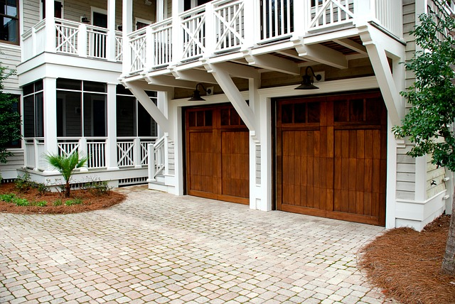 garage doors made of wood
