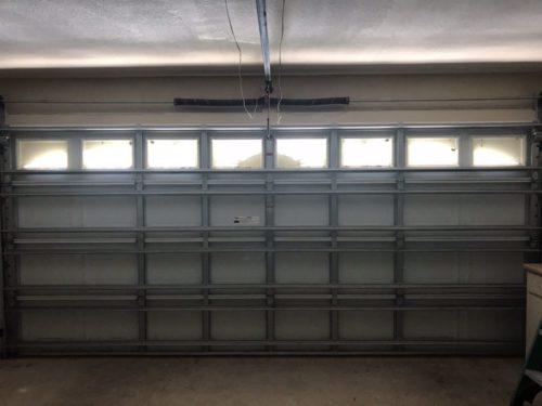 Modern garage door installation job