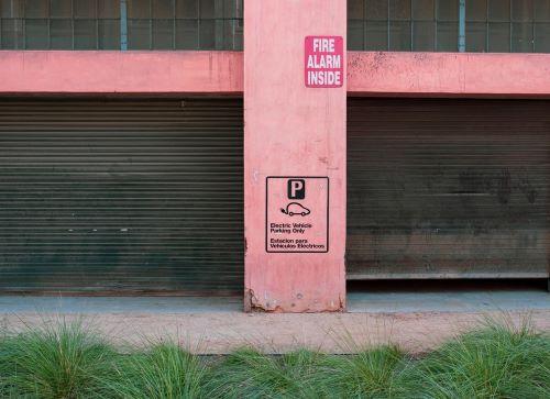 two commercial overhead garage doors 1