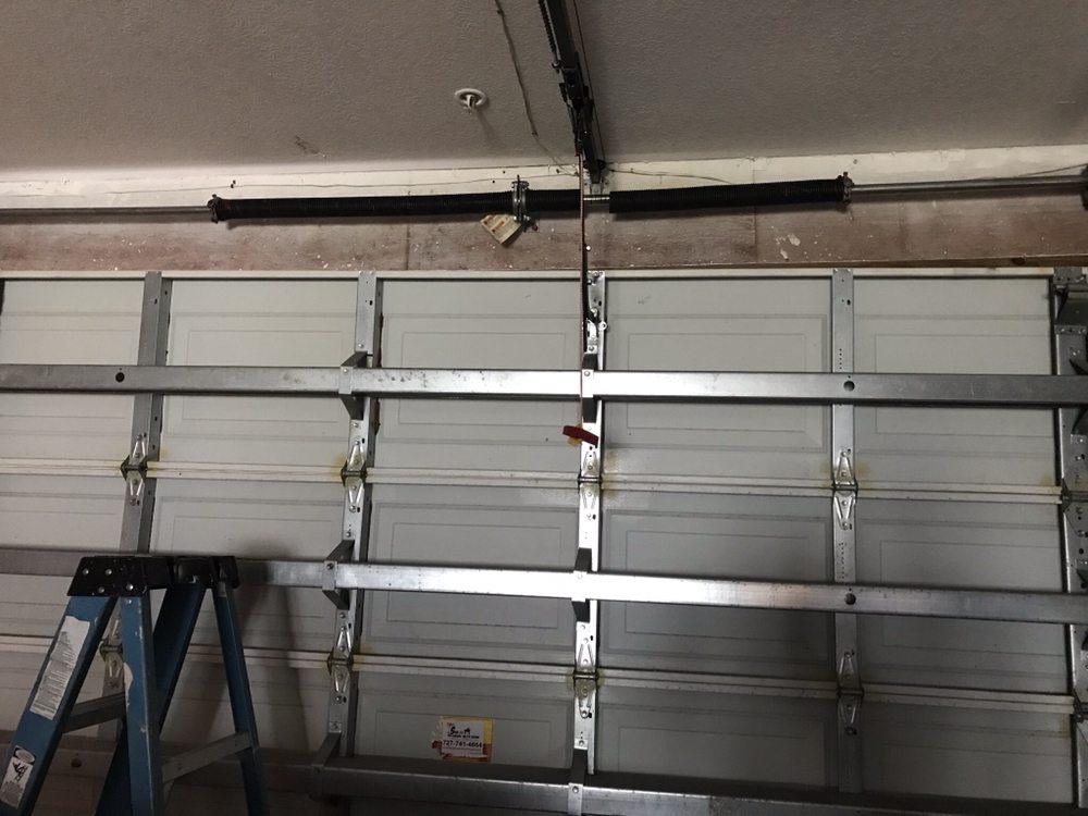 New garage door springs installation