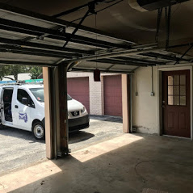Garage Door Repair Service work van