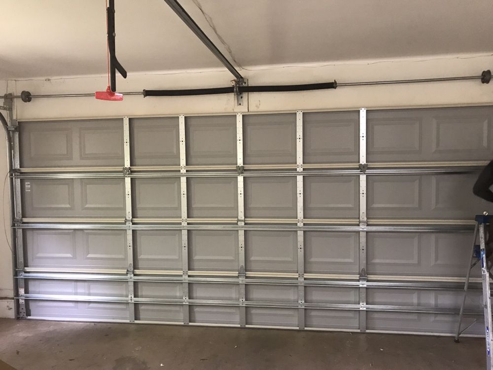 Garage door installation in mint condition
